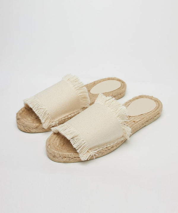 Fringed Toile Slides