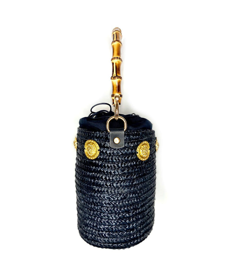 Gold Lions Nights Raffia Bucket