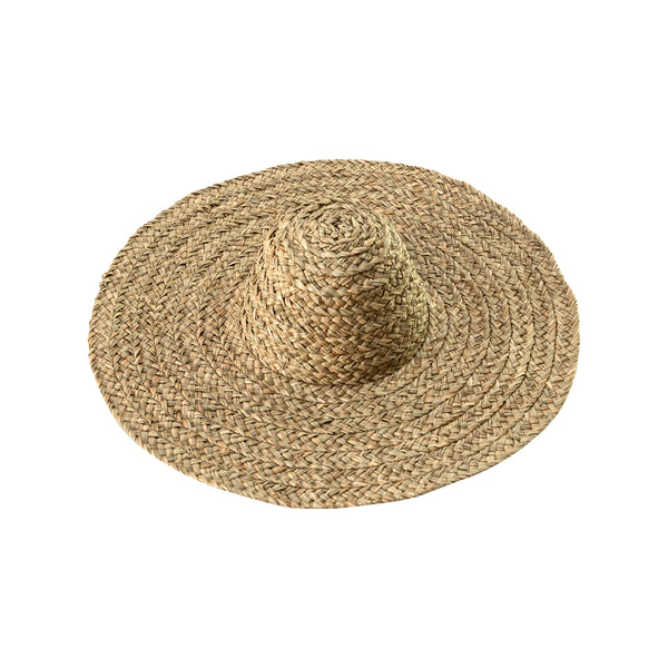 Wide Round Straw Hat