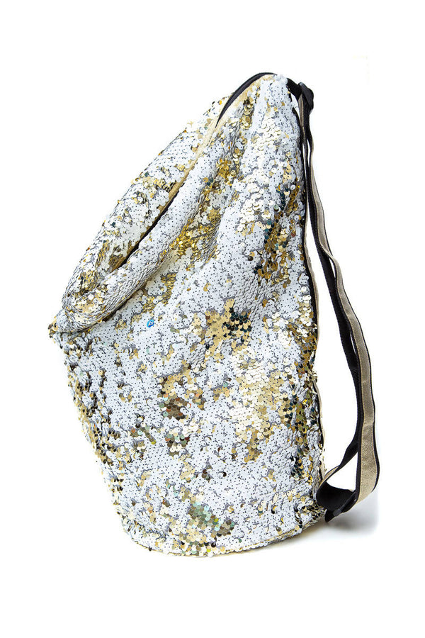 Sequin Crossbody Gold/White