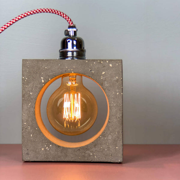 Industrial Table Lamp Concrete - True Color