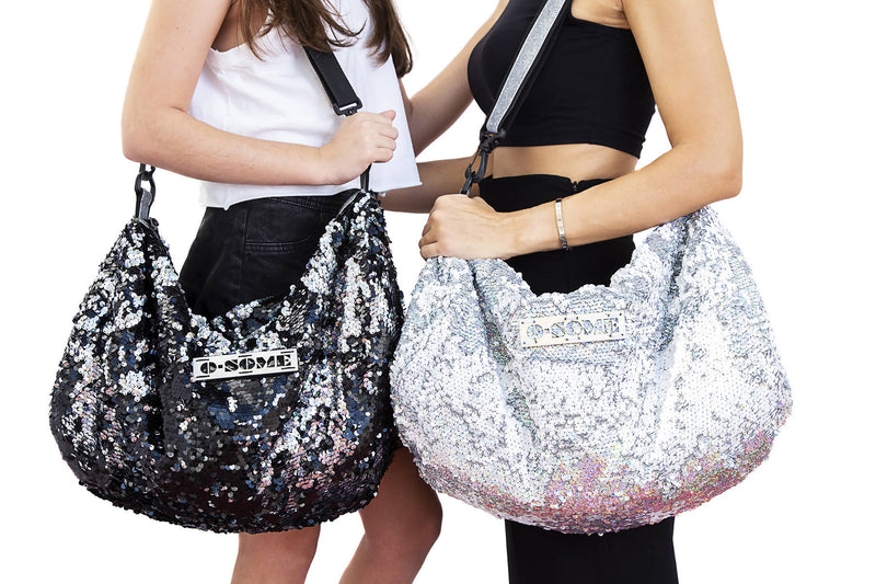 Sequin Small Duffle Hologram White