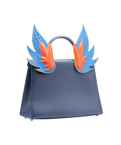 Ms. Lust Blue and Orange Flames Bag Accessory
