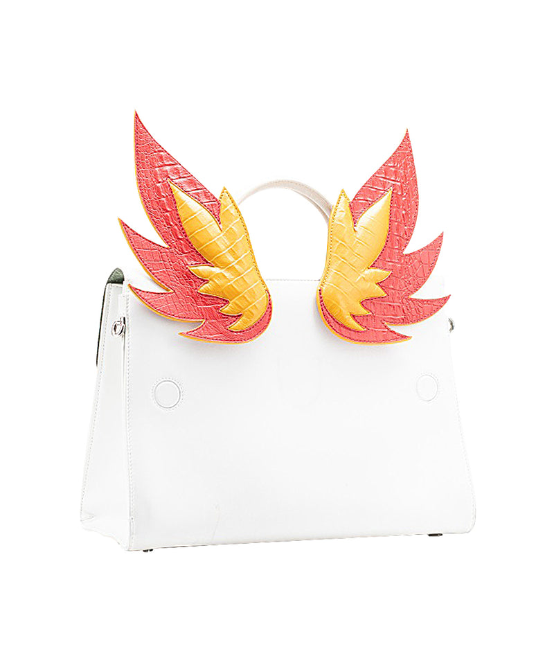 Ms. Lust Red and Yellow Flames Bag Accessory