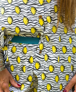 Lemon & More Asymmetrical Shirt and Shorts in Pyjama Style