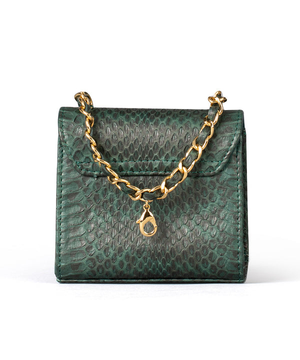 Mini Zain - Green Python Leather
