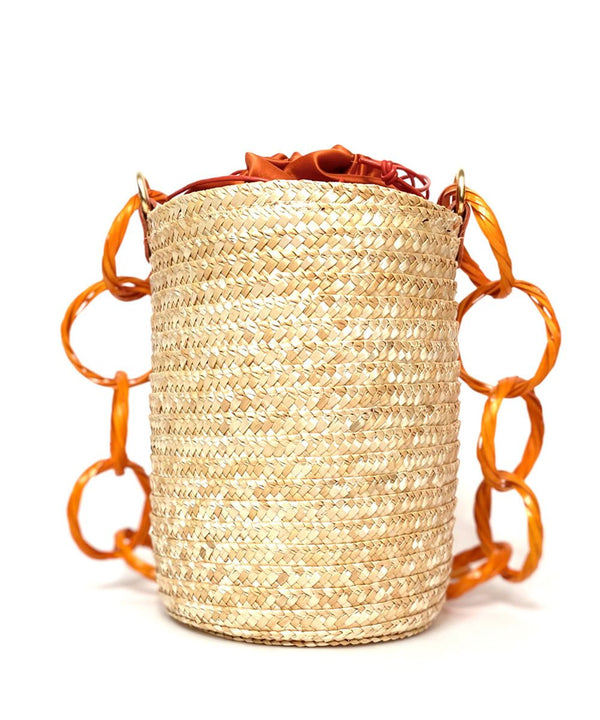 Orange Blossom Raffia Bucket