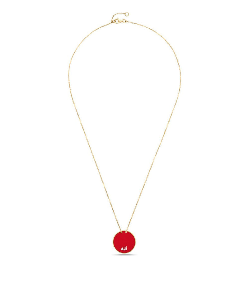 Red Art Deco Pendant