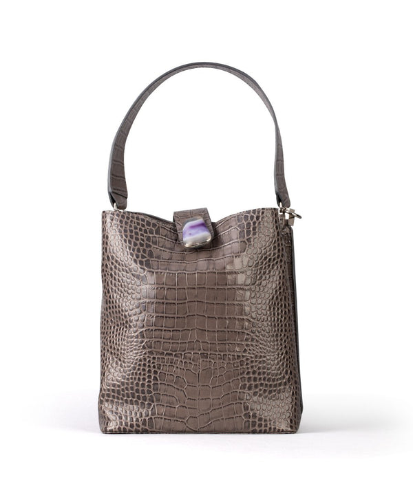 Samar - Grey Crocodile Leather