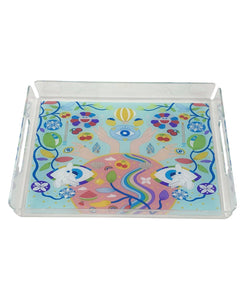 The ART Trove Illustration Tray - Blue Background