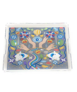 The ART Trove Illustration Tray - Grey Background