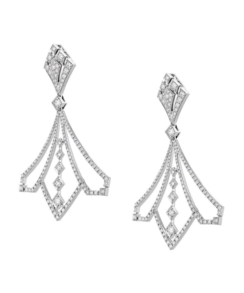 The Lotus Diamond Earrings