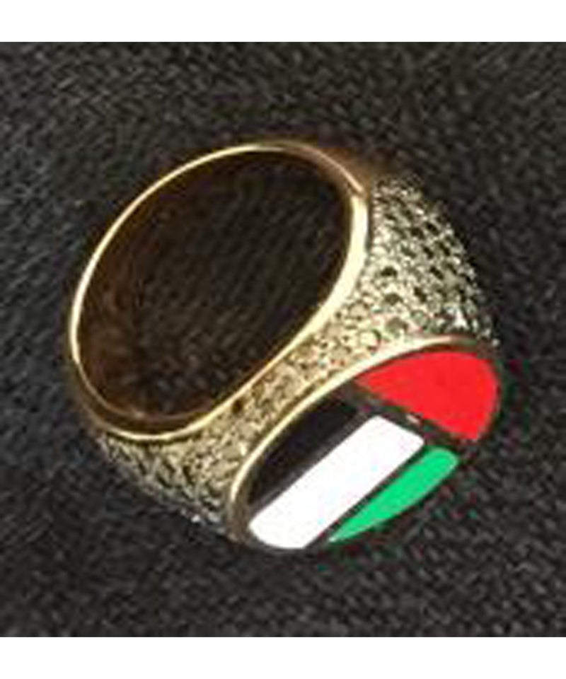 UAE Flag Diamond Ring
