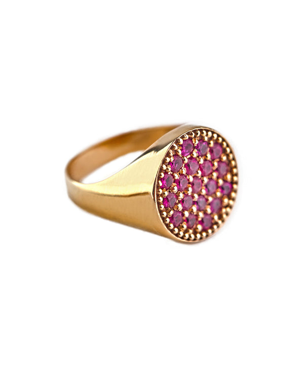 Ruby AristoCat Pinky Ring