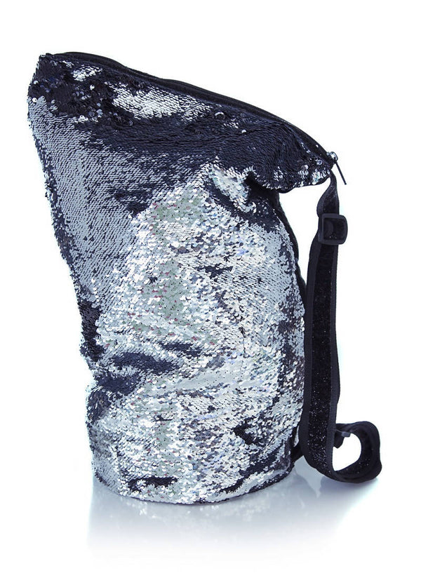 Sequin Crossbody Silver/Black