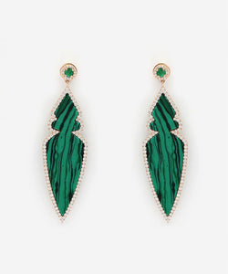 Moulded Malachite Earrings