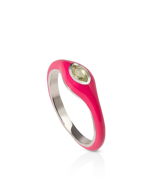 Astrid Ring - Pink in 18K White Gold