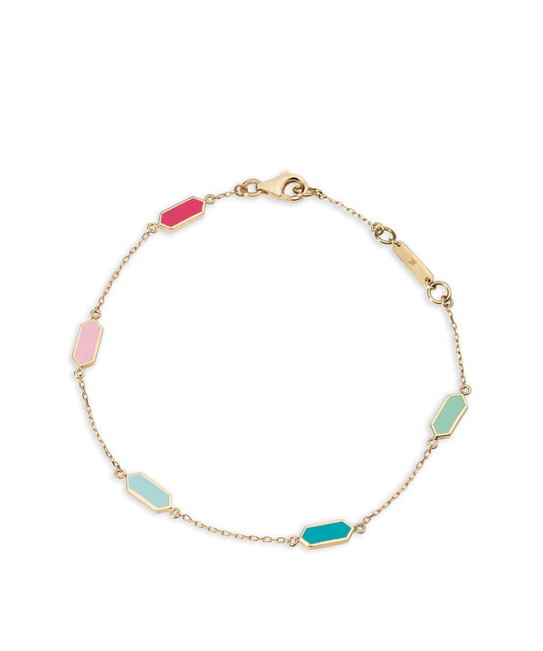 Carys Bracelet - Multicoloured in 18K Yellow Gold
