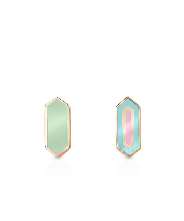 Esme mini Studs II - Small in 18K Rose Gold