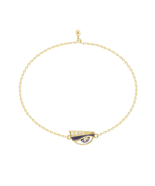 Eye Charm Bracelet in 18k gold