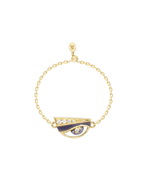 Eye Charm Ring in 18k gold