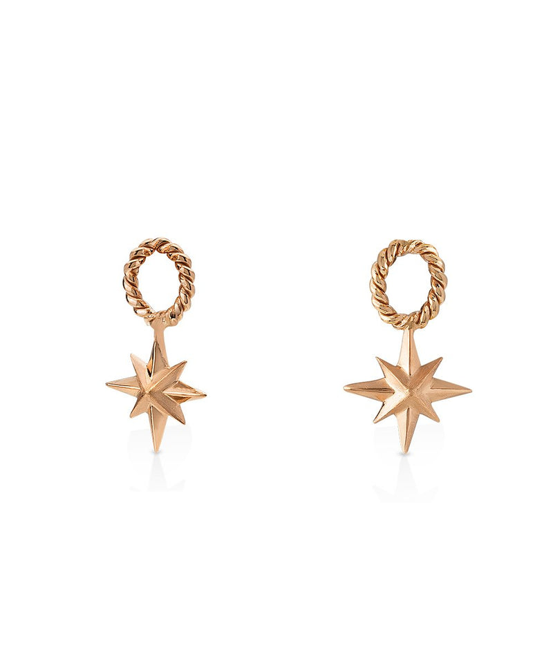 Star Charm/Pendant in 18K Rose Gold