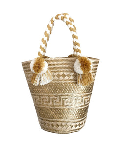 SUSU ORO Straw Hand Bag with Lining