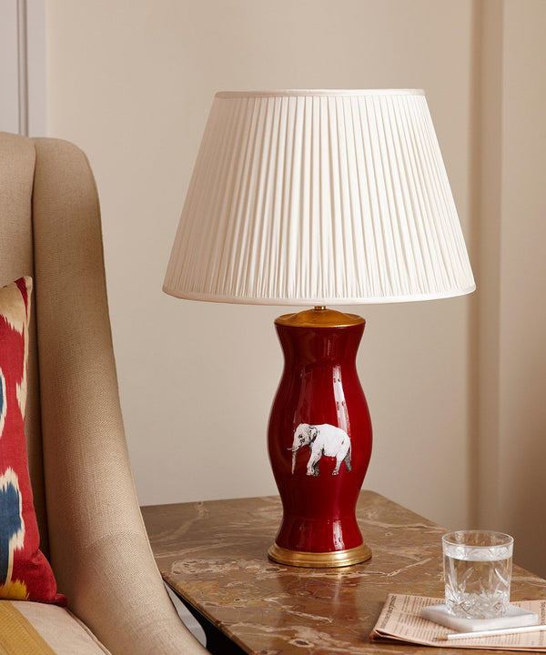 Red Lamp Elephant Lamp