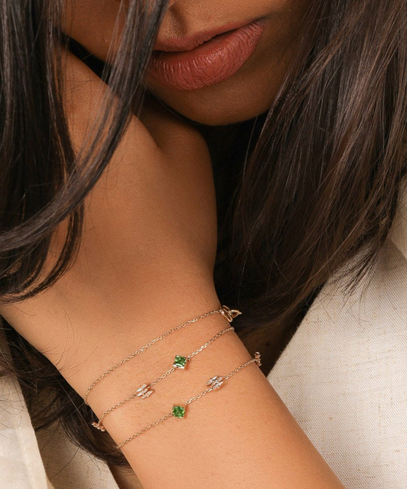 Green Colour Stone Bracelet & Choker
