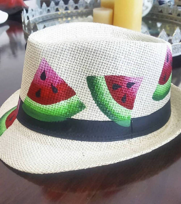 Watermelon Wide Rim Hat