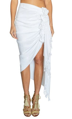 Tulum White Skirt by Just Bee Queen