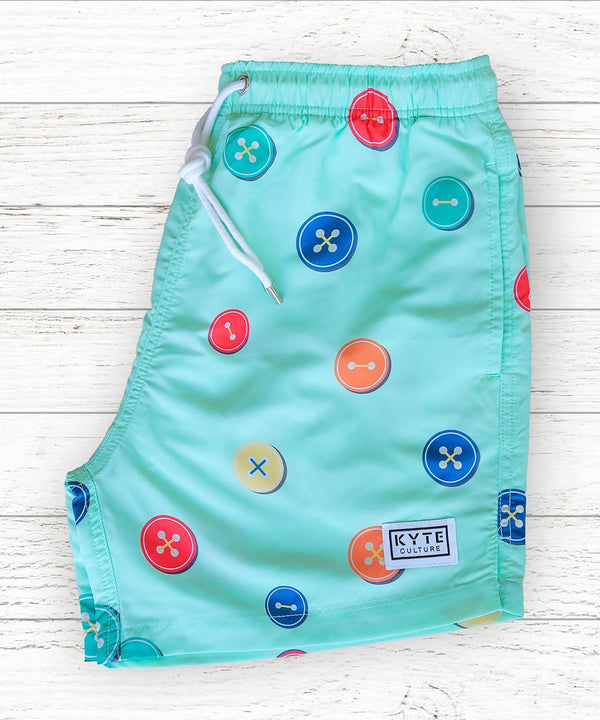 Buttoned-up Swim Short