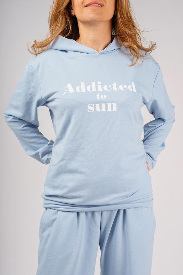 Addicted Blue Sweatshirt and Pants Set