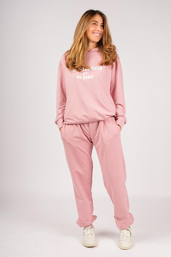 Addicted Pink Sweatshirt and Pants Set