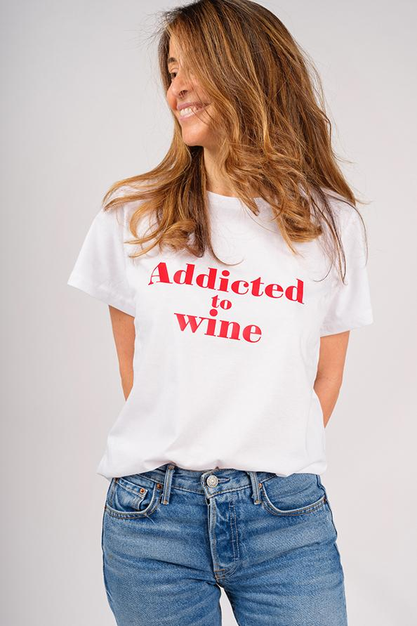 Addicted White T-Shirt