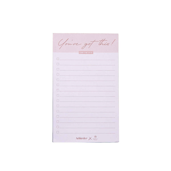 Achievher x Prickly Pear Tear Off To Do List - Pink