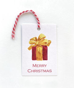 Gift wiith Yellow Bow Gift Tag