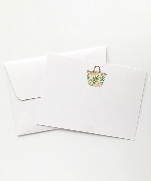 Green Fern Beach Bag Card Set