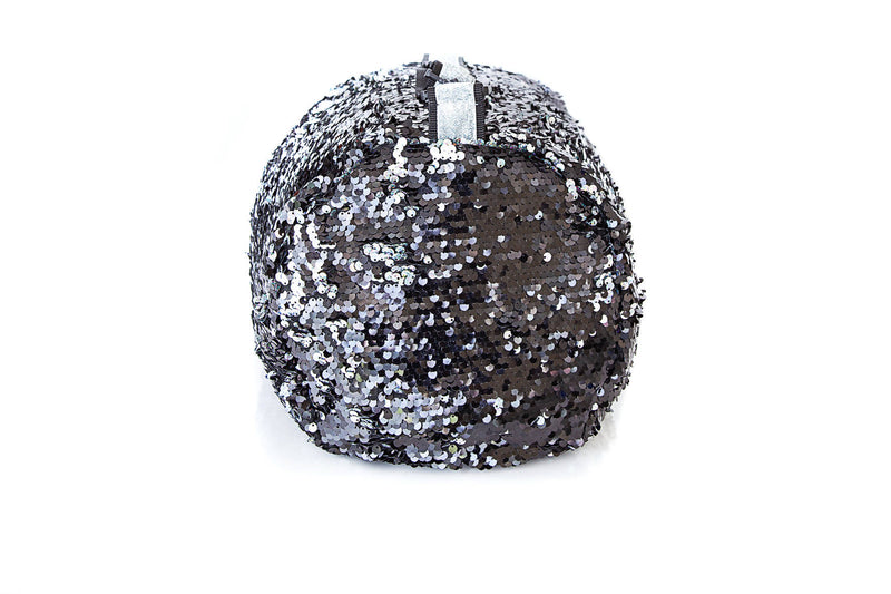 Sequin Small Duffle Hologram Black