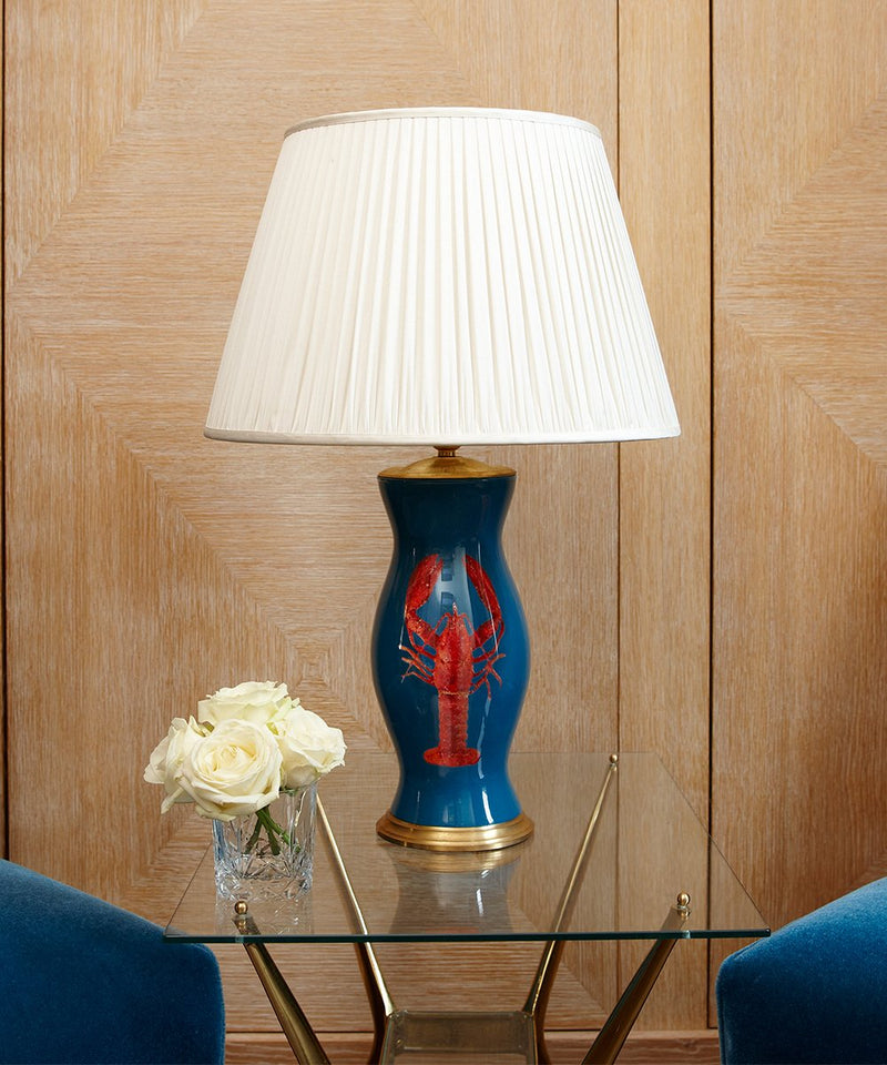 Blue Lamp Lobster Lamp