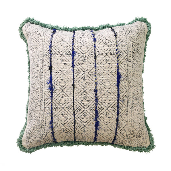 Green/Blue Detail Cushion Cover