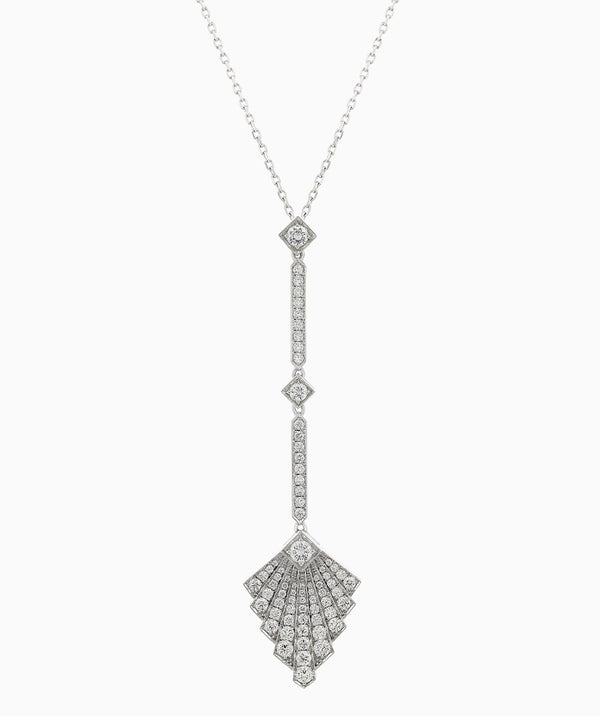 Art Deco White Gold Necklace