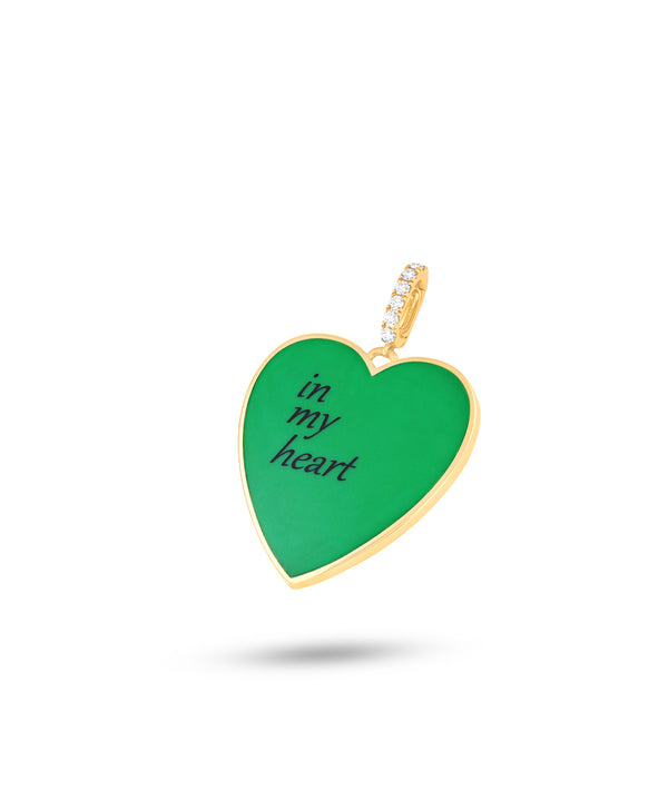 In My Heart Green Pendant