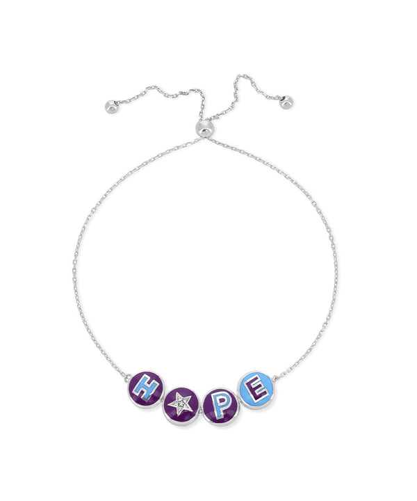"Letters and Color ""Hope"" Bracelet"