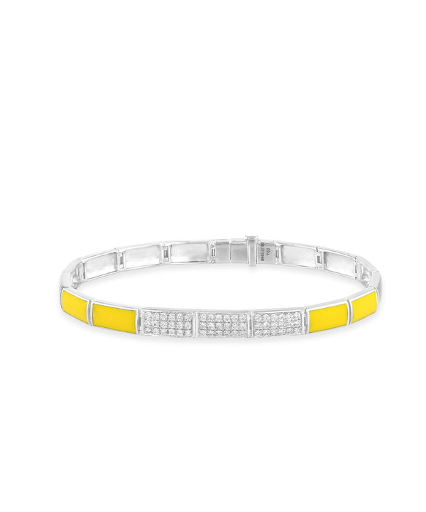 Letters and Colors Yellow Bracelet