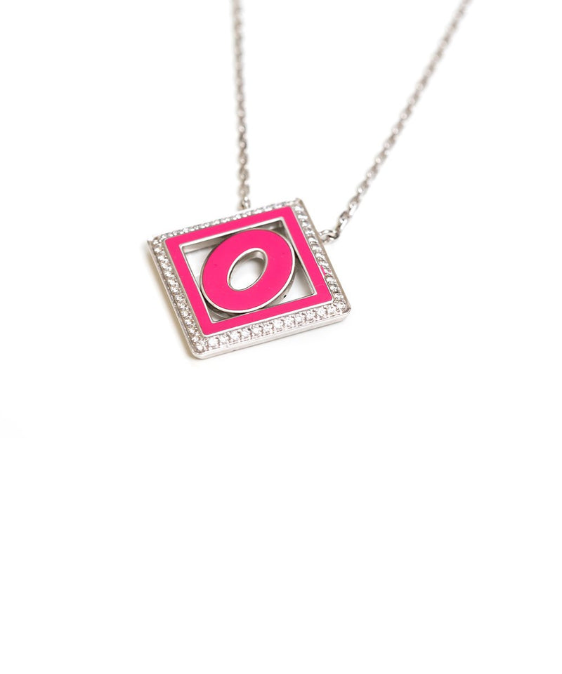 Pink Letters & Color Pendant - Letter O