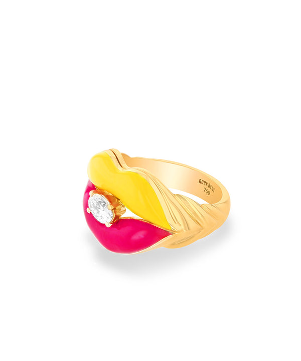 Sugar Lips Yellow Pink Ring