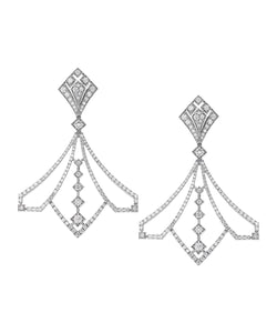The White Gold and Diamond Lotus Earrings