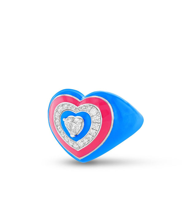 Wonder Heart Blue and Pink Ring
