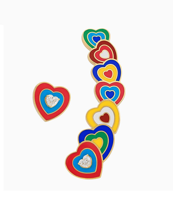 Wonder Heart Multicolor Earrings